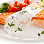 Salmon with Yogurt Tartare Sauce